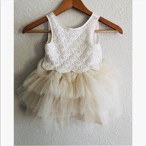 H&M embellished tulle dress sz: 2-3Y